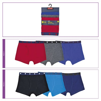 BOYS 3 PACK TRUNKS WITH KEYHOLE