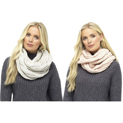 LADIES CHUNKY CABLE SNOOD
