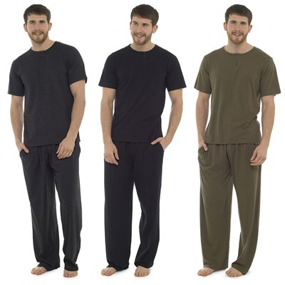 MENS PLACKET DETAIL LOUNGE SET