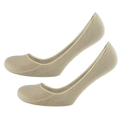 Ladies RJM Pack Of 2 Foot Liners SK265