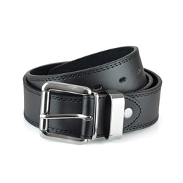 BL115 MENS BROWN DOUBLE STITCHED LEATHER LINED BELT