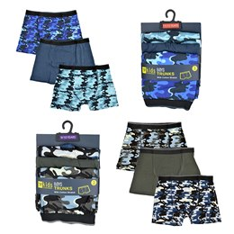 BR110 BOYS 3 PACK CAMO BOXERS