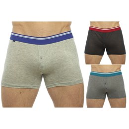 BR163A MENS BOXER SHORT WITH STRIPED ELASTIC