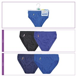 BR204A Boys 2 Pack Briefs