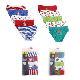 BR209 BOYS 5 PACK BRIEFS IN POLYBAG