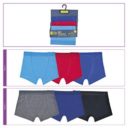 BR214 BOYS 3 PACK TRUNKS