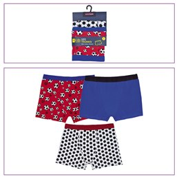 BR216 BOYS 3 PACK TRUNKS WITH FOOTBALL DESIGN