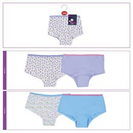 BR222 GIRLS 2 PACK HIPSTER BRIEFS