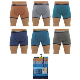 BR404 MENS 3 PACK COTTON STRETCH TRUNKS