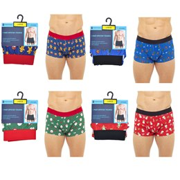 BR407 MENS CHRISTMAS HIPSTER BOXER SHORTS