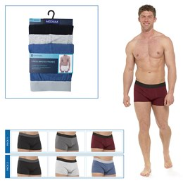 BR411 MENS 3 PACK HIPSTER TRUNKS