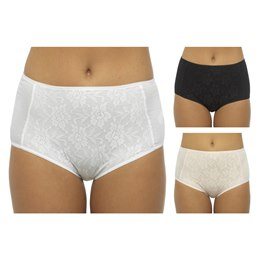 BR707 LADIES FLORAL LACE FRONT BRIEF