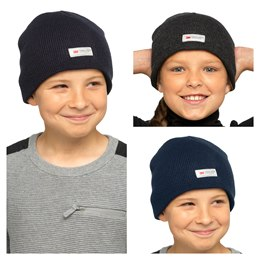 GL023 KIDS THINSULATE BEANIE HAT (WITHOUT TURNUP)