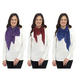 GL048 LADIES CHECKED SCARF