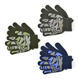GL111 BOYS THERMAL MAGIC CAMOUFLAGE GRIPPER GLOVES
