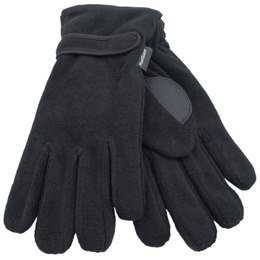 GL127BK MENS THINSULATE BLACK POLAR FLEECE GLOVE