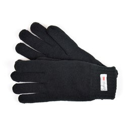 GL130BK MENS BLACK THINSULATE KNITTED GLOVE
