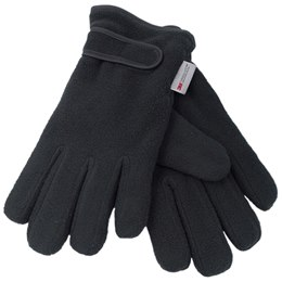 GL136BK LADIES BLACK THINSULATE POLAR FLEECE GLOVE