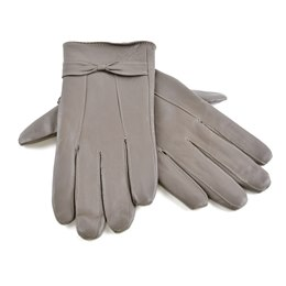 GL147KG LADIES GREY LEATHER GLOVE