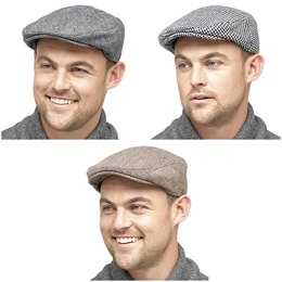 GL227 MENS CHECKED FLAT CAP
