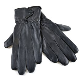 GL231BK LADIES BLACK LEATHER GLOVES