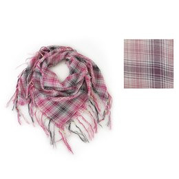 GL276 LADIES CHECKED SCARF WITH BEADING