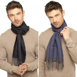 GL344A MEN'S WOVEN STRIPED SCARF