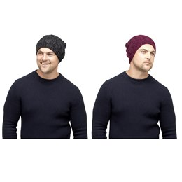 GL371 MEN'S CABLE KNIT SLOUCH BEANIE