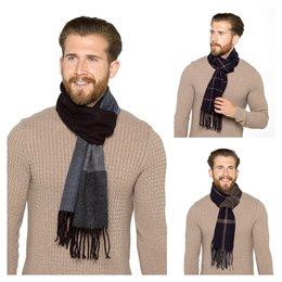 GL382A MENS CHECKED SCARF