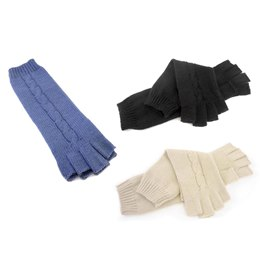 GL416 LADIES LONG FINGERLESS GLOVES
