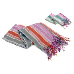 GL450 LADIES STRIPED SCARF WITH LUREX
