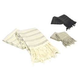 GL453 LADIES STRIPED SCARF WITH LUREX