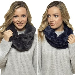 GL509A LADIES TEXTURED FAUX FUR SNOOD