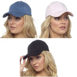GL557 LADIES FAUX SUEDE CAP