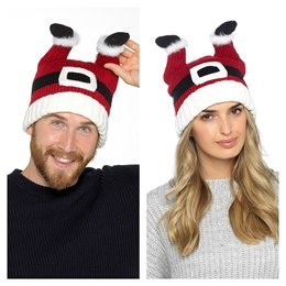 GL574 ADULTS SANTA HAT WITH LEGS