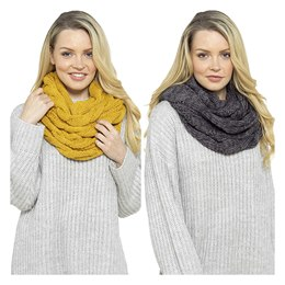 GL576A LADIES CHUNKY CABLE SNOOD