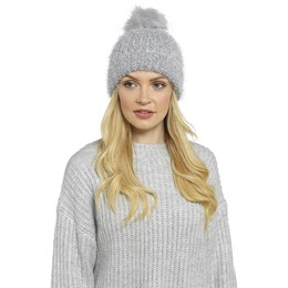 GL591 LADIES BOBBLE HAT WITH LUREX