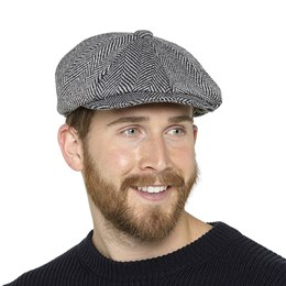 GL606 MENS BAKER BOY HAT WITH WOOL & THINSULATE