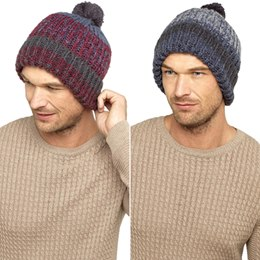 GL607 MENS CHUNKY BOBBLE HAT