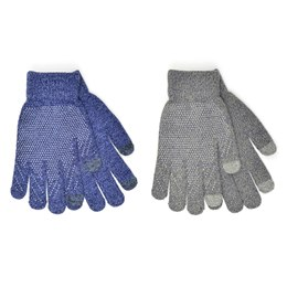 GL632 Mens Marl Touchscreen Gloves With Grip