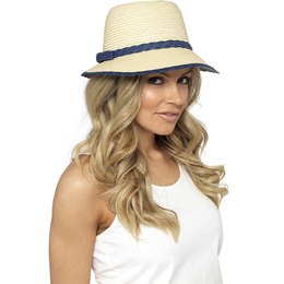 GL701NY Ladies Hat With Navy Trim
