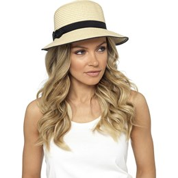 GL712 LADIES CLOCHE SUMMER HAT WITH BOW