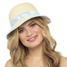 GL713 LADIES CLOCHE SUMMER HAT WITH BOW