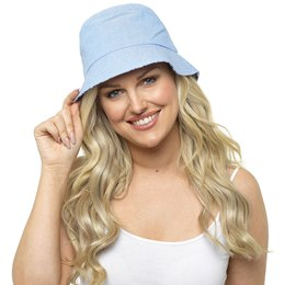 GL718 Ladies Light Denim Blue Bucket Hat