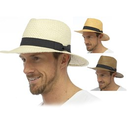 GL756 ADULTS STRAW HAT WITH BAND