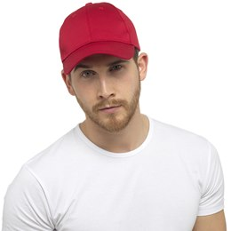 GL791RD MENS BASEBALL CAP  RED