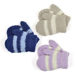 GL904 BABIES SOFT TOUCH STRIPED MAGIC MITTENS