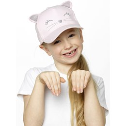 GL923 Girls Cat Cap With Embroidery
