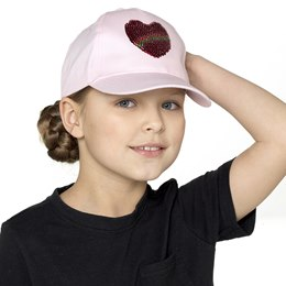 GL924 Girls Sequin Heart Cap