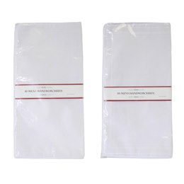 HK022 MENS 10 PACK WHITE HANKIES
